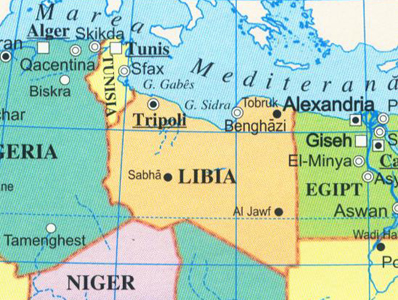 Libia-Harta cartina